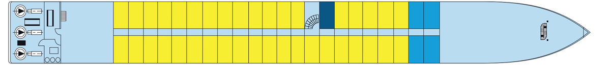 MS Rhône Princess Hauptdeck