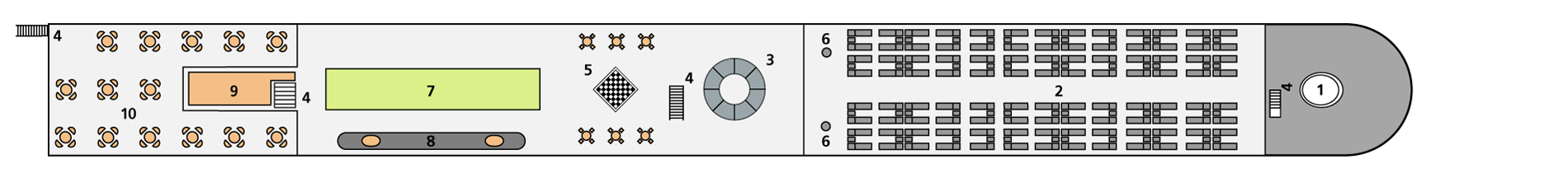 A-ROSA BRAVA Deck 4