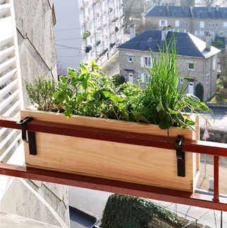 jardinière en bois douglas naturel