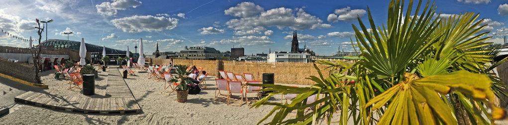Beachbar mit Domblick, Köln City 2016