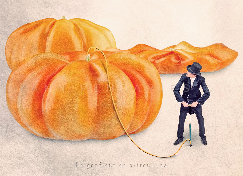 Le gonfleur de citrouilles © Yann Pendariès