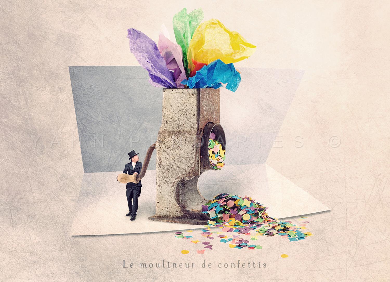 Le moulineur de confettis © Yann Pendariès