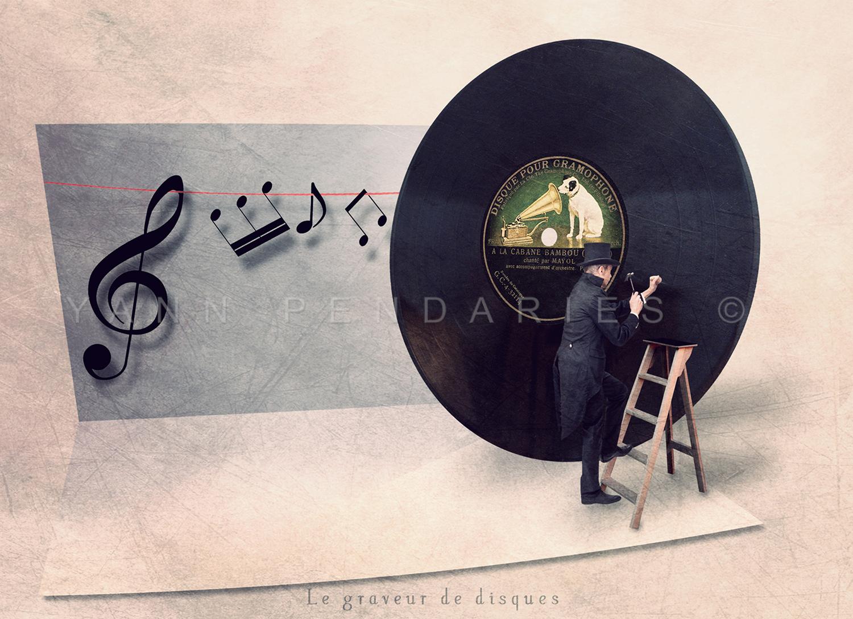 Le graveur de disques © Yann Pendariès