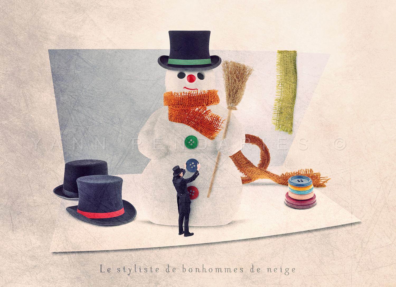 Le styliste de bonhommes de neige © Yann Pendariès