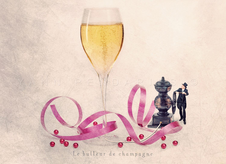 Le bulleur de champagne © Yann Pendariès