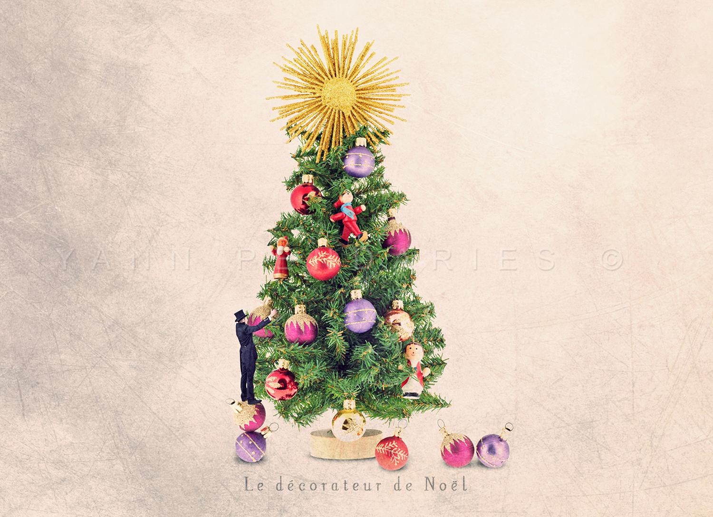 Le décorateur de Noël © Yann Pendariès
