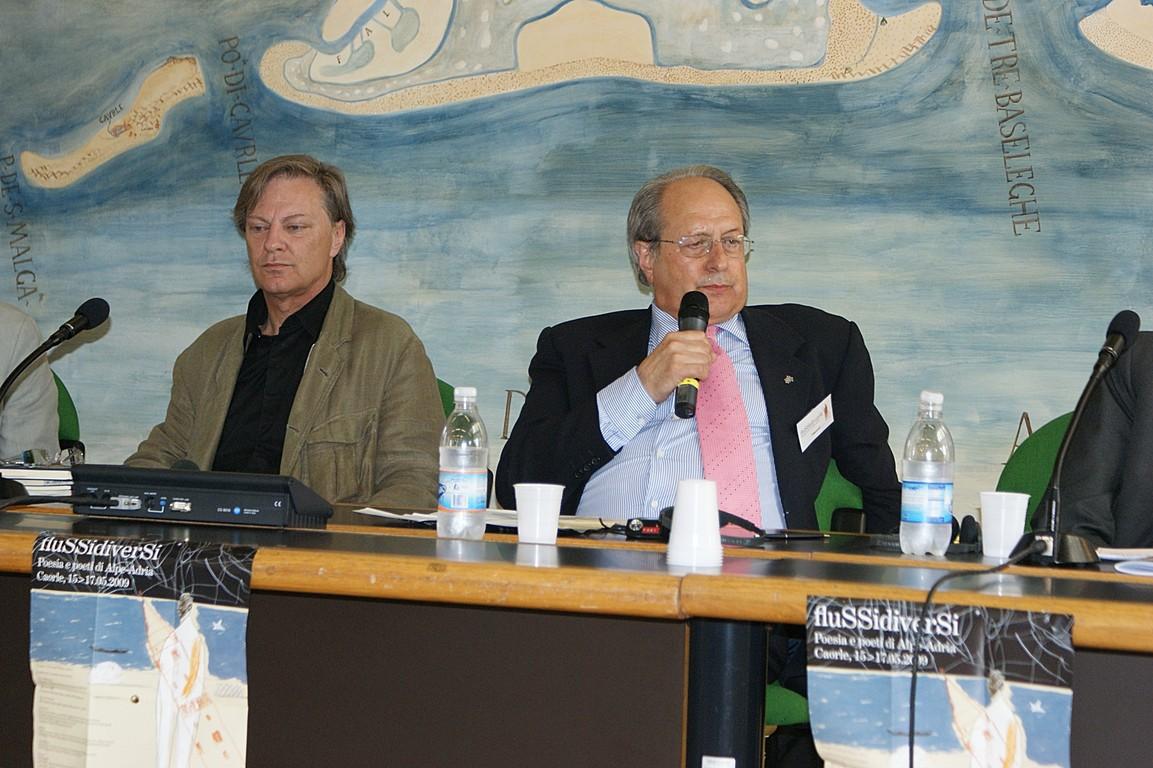 Simposio scientifico: da sinistra C.W. Aigner e A.Cassuti