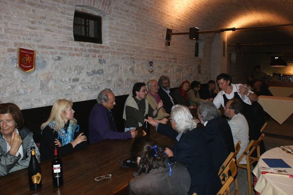 I poeti nella Cantina dell'Azienda Agricola Ca' Corniani