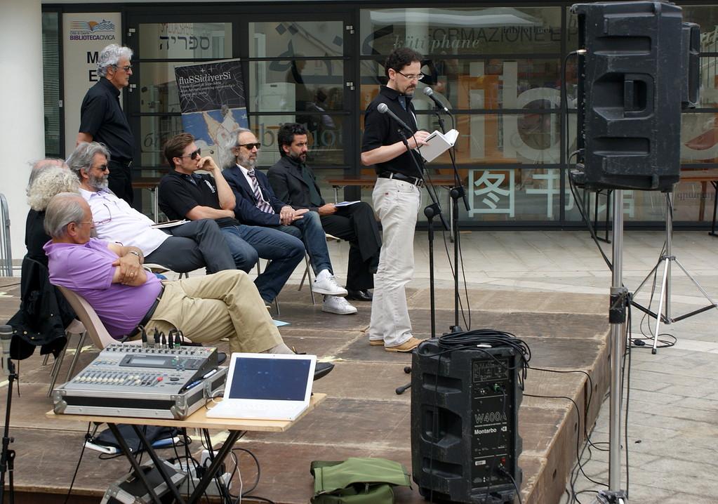 immerSidiverSi in Piazza Matteotti: Roberto Nassi, Giovanni Fierro, Flavio Ermini, David Schuller, Eros Olivotto, Antonio Cassuti  - 03/06/2012