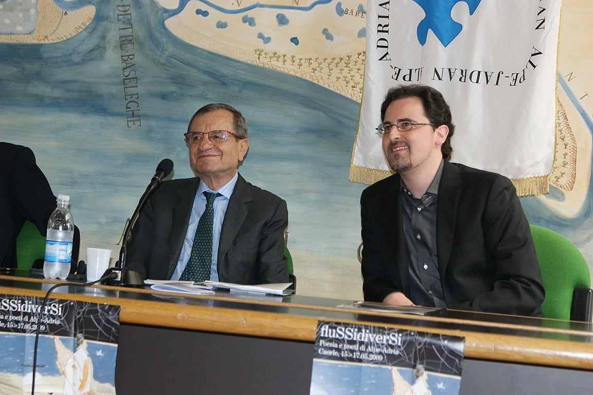 Simposio scientifico: da sinistra, F. Bandini e R. Nassi
