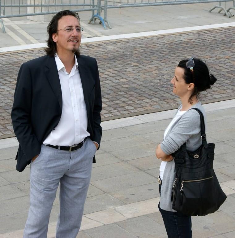 Luca Antelmo (Ass. Cultura Caorle) ed Elisa Canta (Regista)