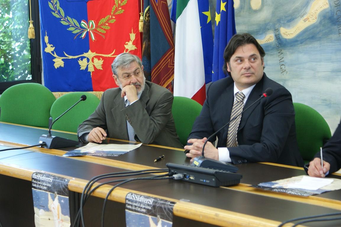 Da sinistra, Angelo Tabaro, Segreteria Generale Cultura della Regione del Veneto, e Marco Sarto, Sindaco di Caorle (VE)