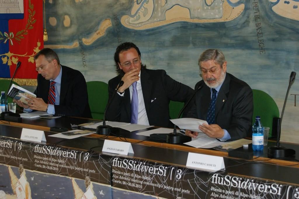 Inaugurazione - T. Pseiner (Segretariato Generale Comunità di Lavoro Alpe Adria), L. Antelmo (Ass. Cultura Caorle), A. Tabaro (Regione Veneto)