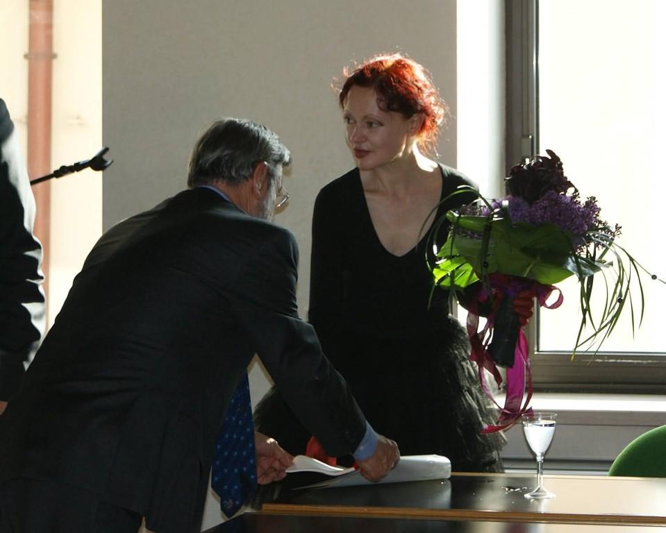 Patrizia Valduga e Angelo Tabaro
