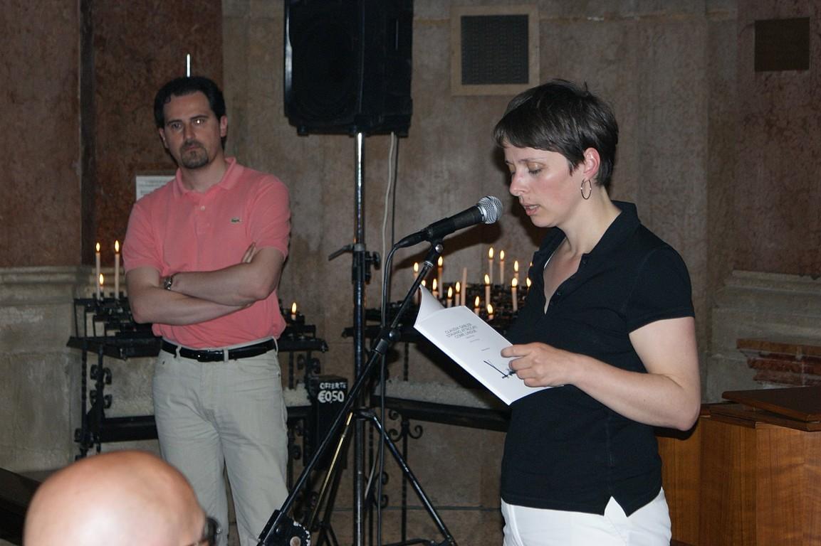 Reading al Santuario della Madonna dell'Angelo: C. Gabler - dietro, R. Nassi