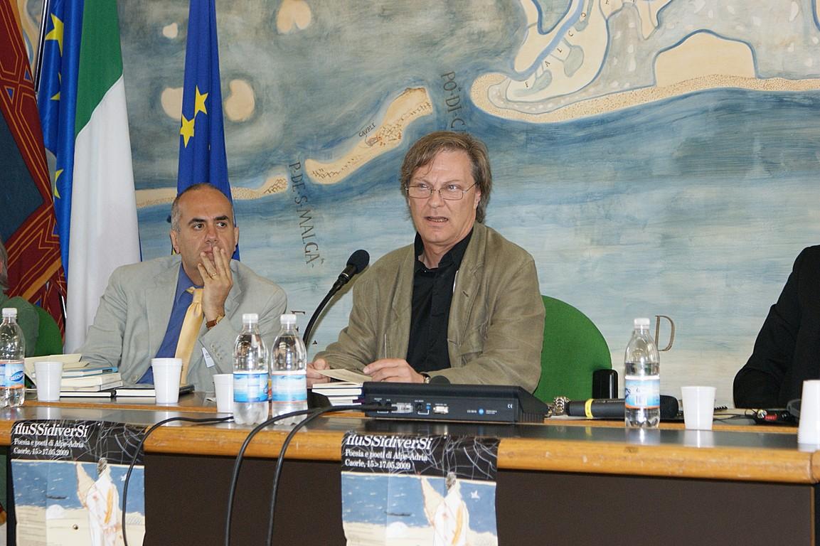 Simposio scientifico: da sinistra, L. Reitani C.W. Aigner
