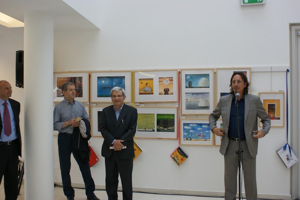 Luca Antelmo - Assessore alla Cultura del Comune di Caorle e Leo Pizziol - Direttore della Fondazione Mostra Internazionale d'Illustrazione per l'Infanzia di Sàrmede