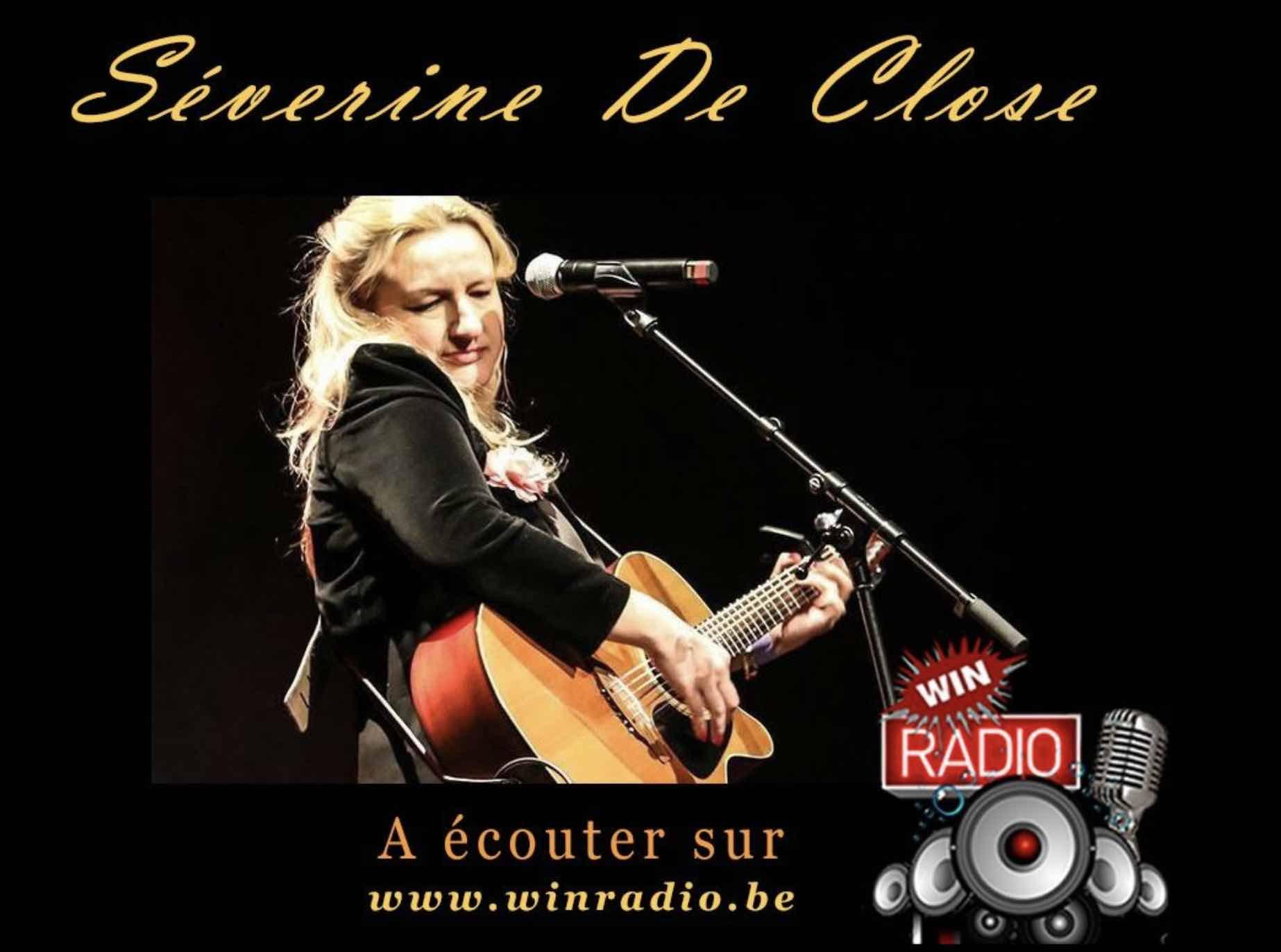 Les titres de Séverine de Close dans la programmation de Win radio (Belgique)