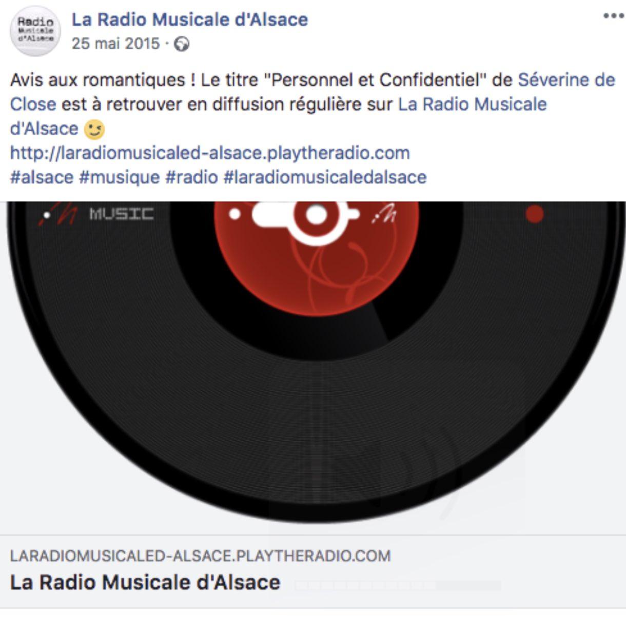 La Radio Musiciale D'Alsace - 25/05/15