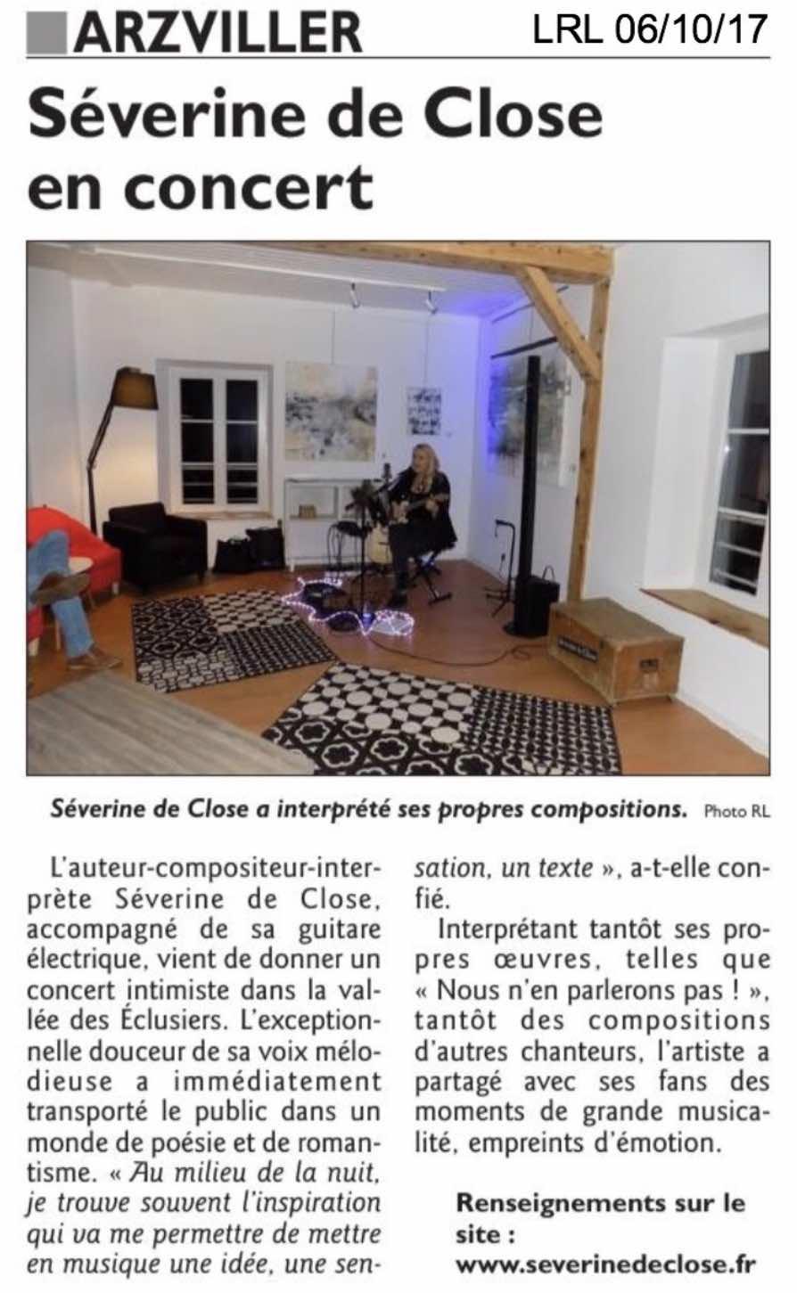Le Républicain Lorrain 06/10/17