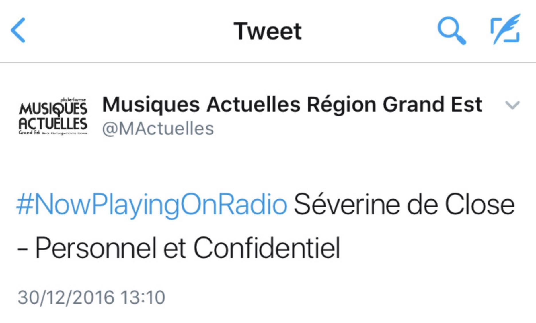 Radio Musiques Actuelles Région Grand Est - 30/12/16