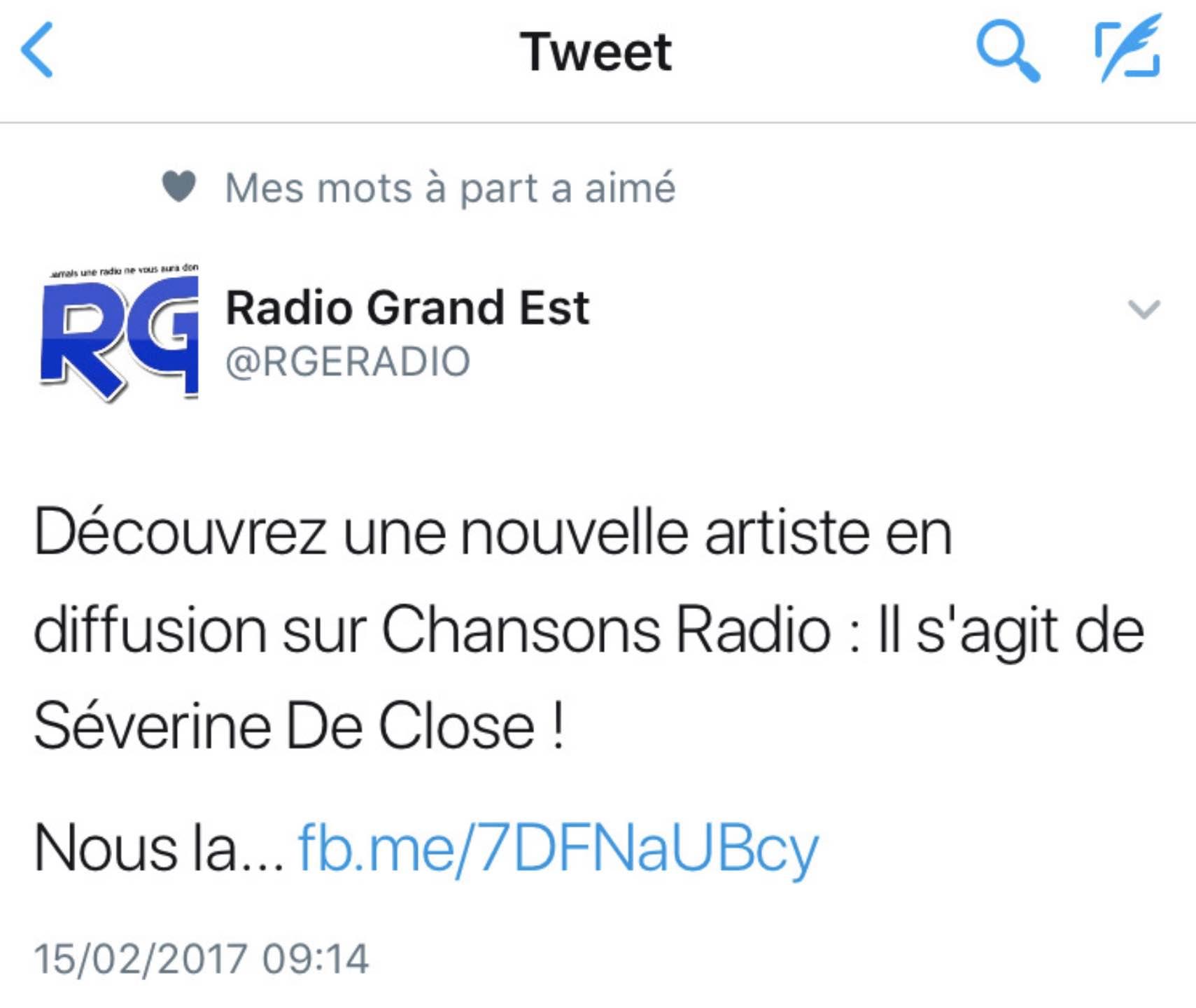 Radio Grand Est - 15/02/17