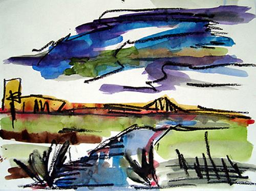 2004  Wolke   28,8 x 21,5 Aquarell