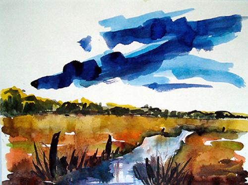2004  Wolken   28,8x 21,5 Aquarell