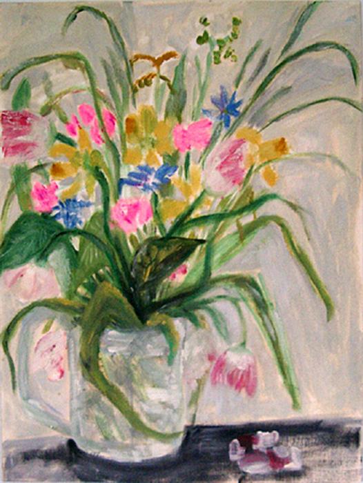 1991  Frühlingsstrauss 36x27 Öl