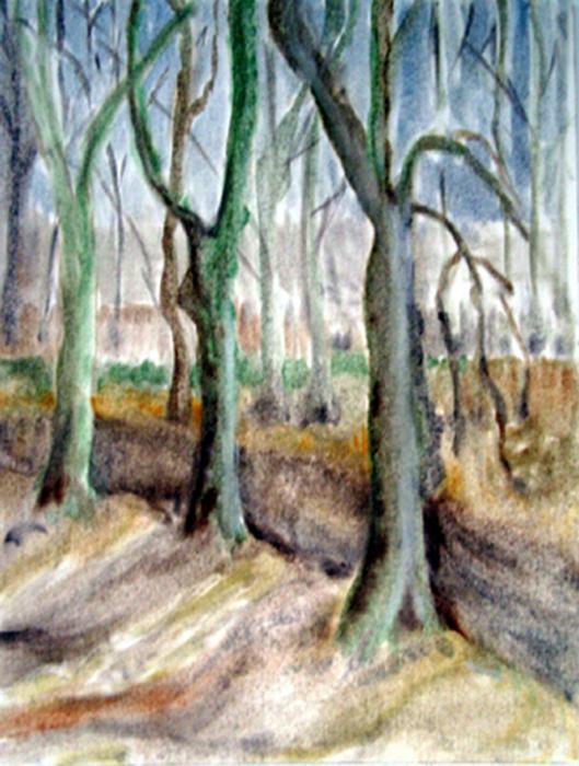 1989  Wald 30x27 Öl