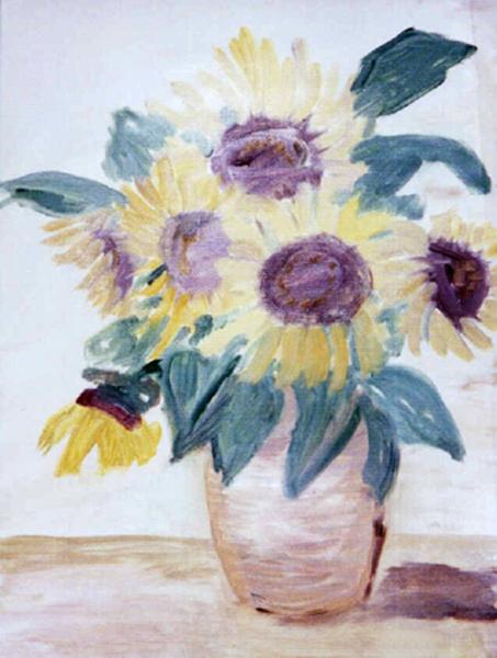 2004  Sonnenblumen 40x30 Öl