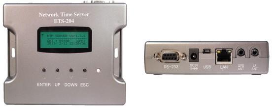 業務用 NTP タイムサーバー ETS-204 (ATM/CD,DVR/CCTVシステム用独立形NTPサーバー)