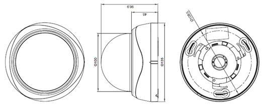 HD-SDIドームカメラ図面