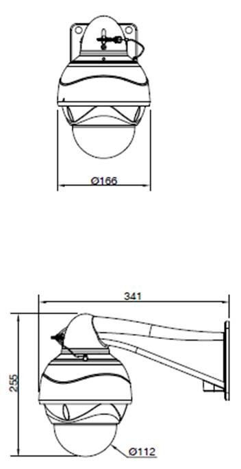 HD-SDIPTZドーム型監視カメラ