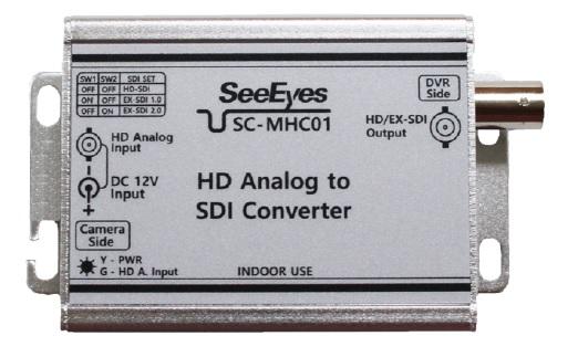コンバーター本体写真(SC-MHC01; TVI/AHD/CVI to HD-SDI/EX-SDI)