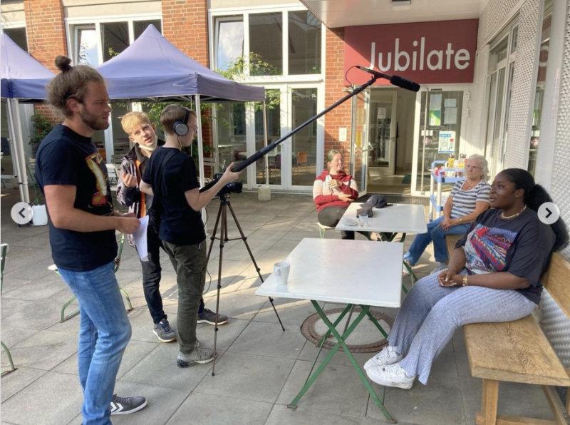 Film- und Fototeam in Aktion
