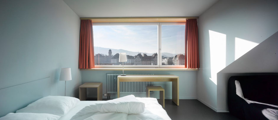 double room with a big window