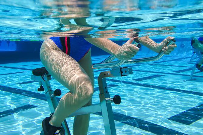 Vélo dans l'eau