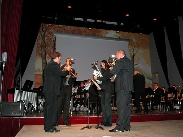 Orchestre de cuivres d'Amiens concert de Mémoire à Doullens