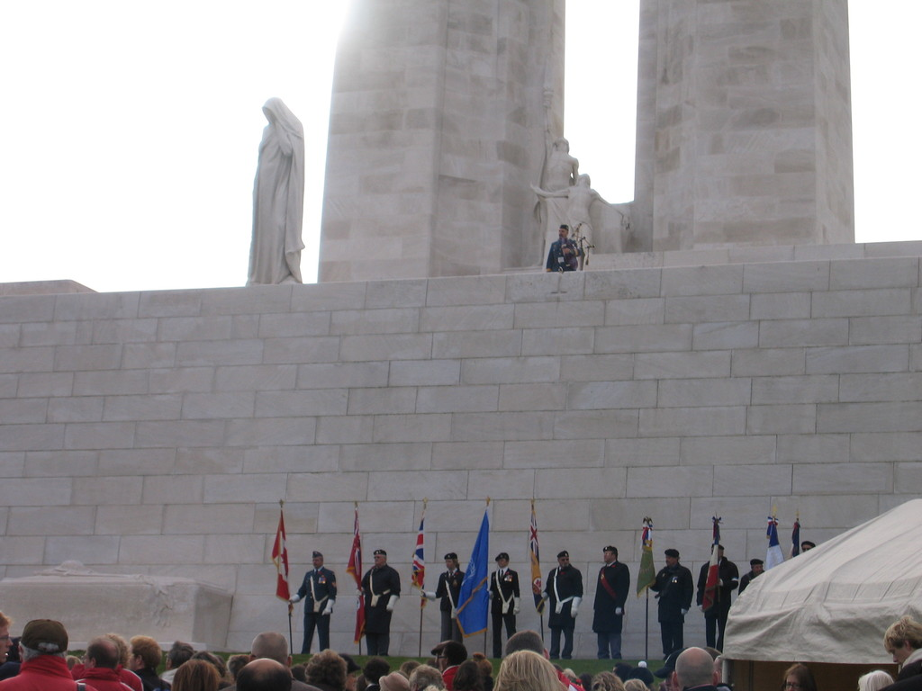 ceremony at Vimy Memorial
