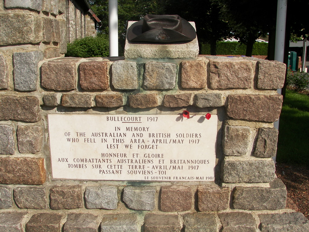 Slouch Hat memorials - Bullecourt