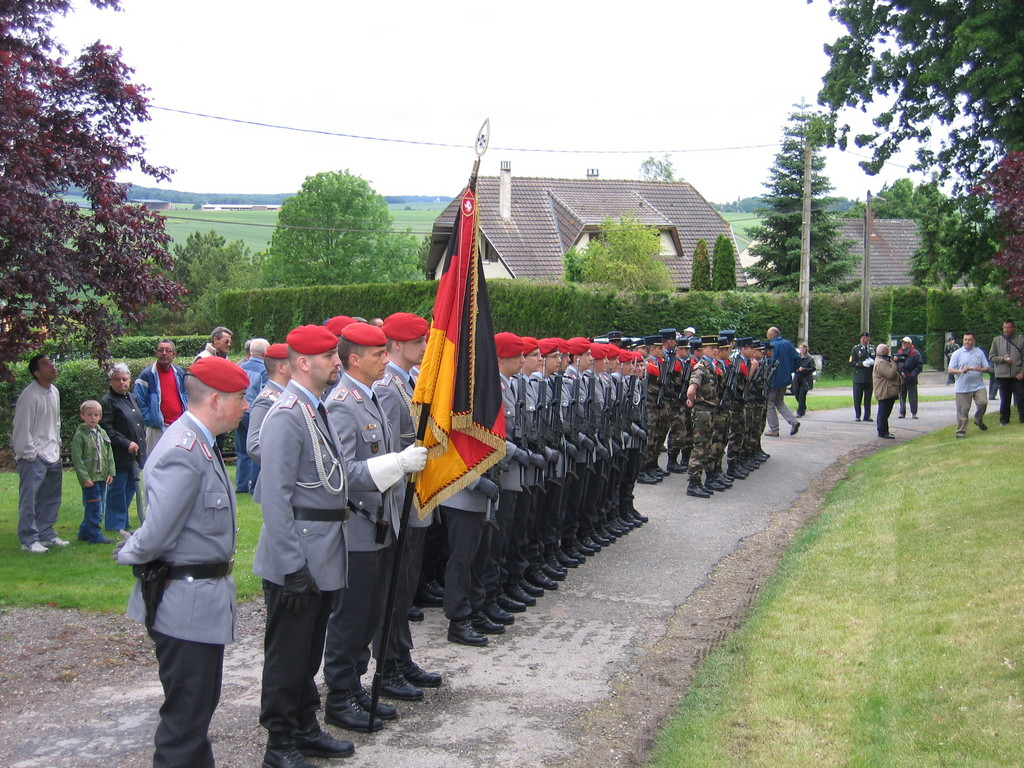 German & French troops