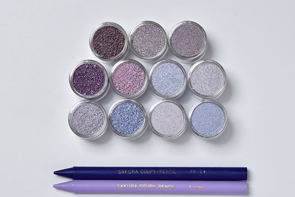 紫系のカラーサンド