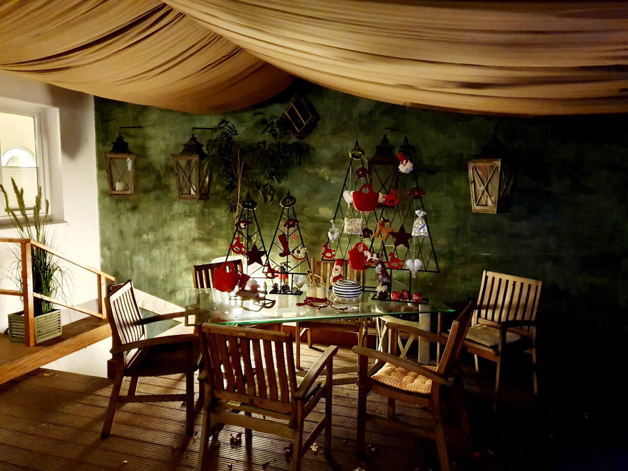 Joell Style Innenhof Weihnachtsdekoration