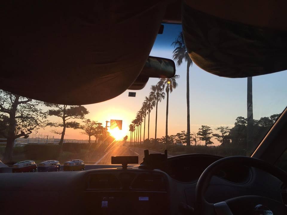 朝日が眩しいMIYAZAKIへ~