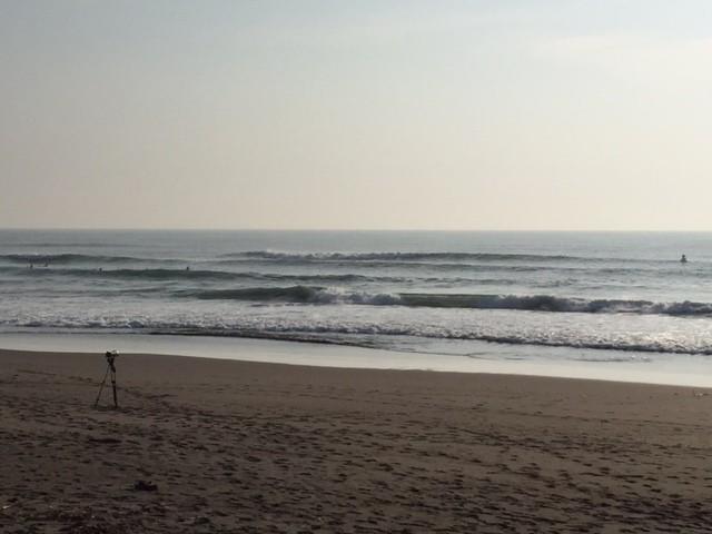 波は両日お古までは面も良く胸~肩でキレイでした。