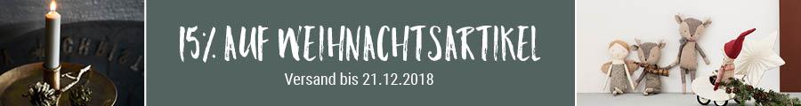 15 % auf Weihnachtsartikel – Versand bis 21.12.2018