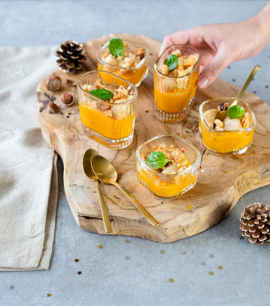 Verrines de Noël : recette au potimarron