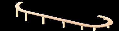 H0 Rampe/Gleiswendel