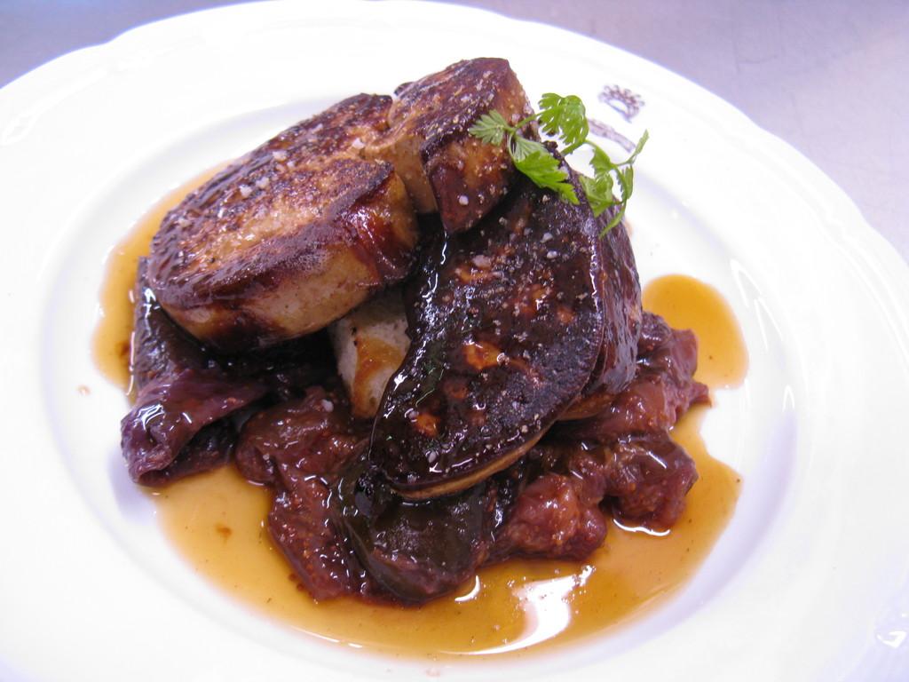 Foie d'oie poêlé aux figues